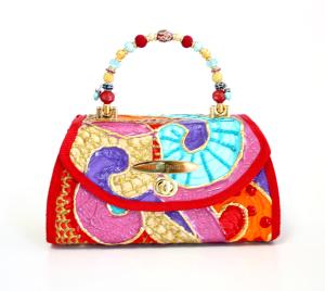 Custom Painted Artsy Couture Handbag