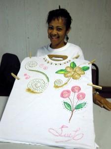 Bahamas Craft Associations- fabric painting
