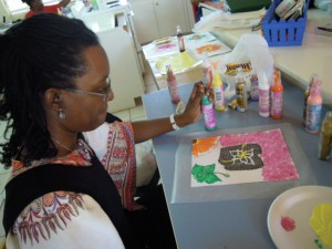 fabric painting in Eleuthera