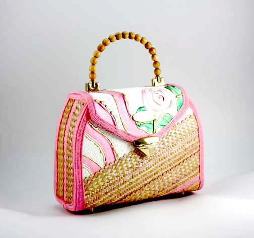 How to Sew a Straw Bag Purse Making & Texture Painting ...