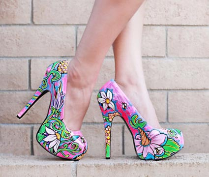 Hand painted shoes by Jimmy Olea