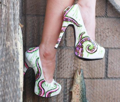 James Olea painted shoe