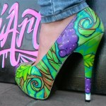 Painted shoe by Jimmy Olea