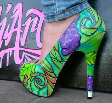 Painted shoe by Jimmy Olea