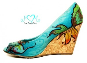 Miranda Marie Storer- painted wedge shoe