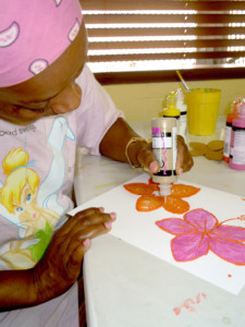 Paint a hibiscus flower