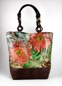 Learn how to make a shabby chic handbag
