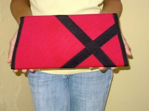 Make a fabric clutch purse