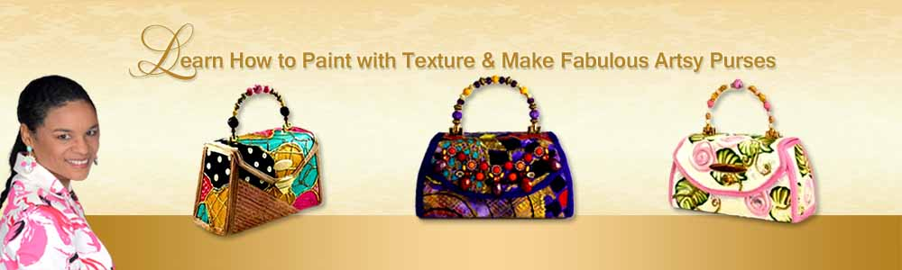 Paint With Texture & Make Structured Handbags
