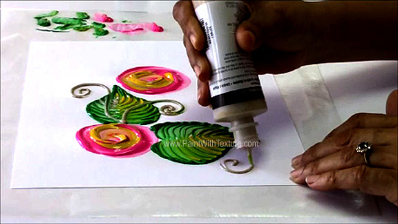 Fabric Painting Tutorials- How to paint flowers.