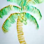 Paint an Abstract Coconut Tree