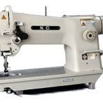 Long arm with walking foot sewing machine