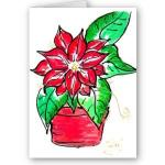 Painting a Poinsettia